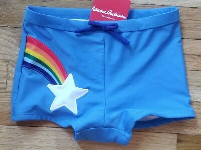 Nwt Hanna Andersson Boyshort Swim Short Rainbow Star 100 4 110 120 6/7 130 8 140