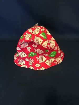 Gymboree Girl/Boy Sun Hat With Fishes NWT Size 6-12 Months