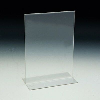 "8.5"" x 11"" Bottom Load Table Tent / Sign Holder, Pack of 20"