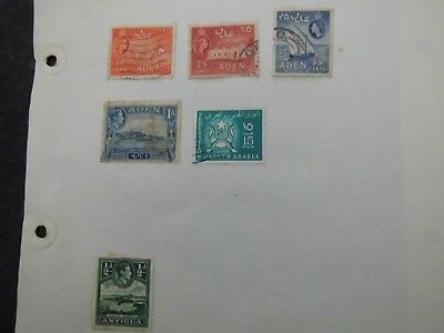 ADEN ARGENTINA BHUTA  Breaking old album stamps on pages HONESTLY UNCHECKED LOT