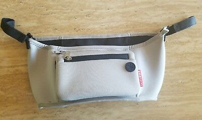 EUC Skip Hop Grab & Go Stroller Organizer Insulated Gray 2 Drinks /phone Holder