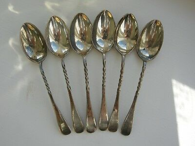 Set Six 6 Solid Silver Tea Spoons Coffee Spoon CHESTER 1899 Victorian Not Scrap