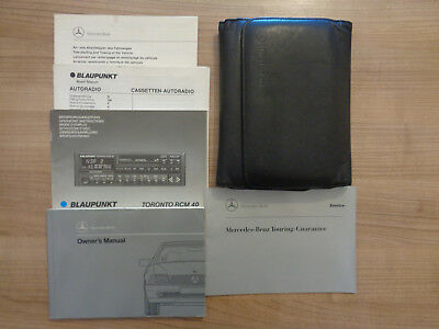 Mercedes Benz SL R129 Owners Handbook/Manual and Wallet
