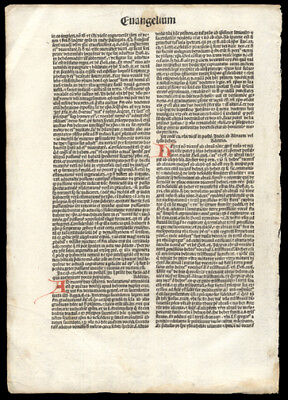 Gospel of Matthew 22 1481 New Testament Incunable Leaf Parable of Wedding Feast