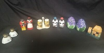 Vintage Mix  Salt and Pepper Shakers, Lot Of 6