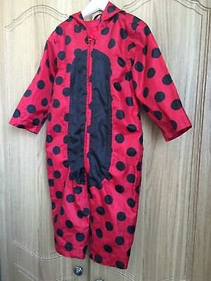 Mothercare Puddle Splash Suit Waterproof 12-18 Month Dot Red Black Ladybird