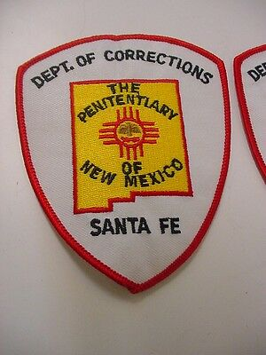 lot of 4 vintage NEW MEXICO  department of corrections patch - SANTA FE