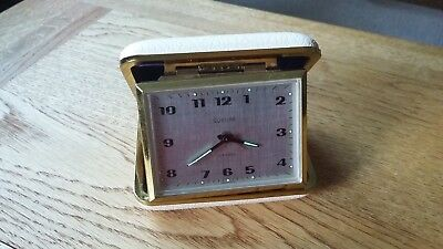 Vintage Europa 2 Jewels German Travel Alarm Clock - Working & With Orignal Box