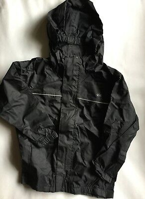 Boy or Girls Gelert Waterproof Rainpod Jacket in Black Colour