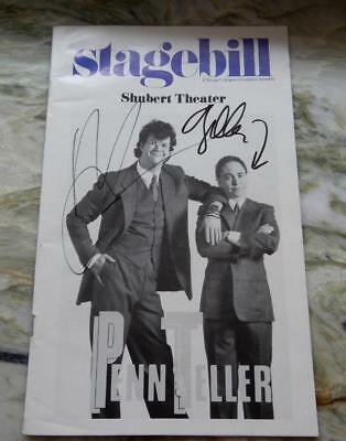 Penn & Teller, Shubert Theatre Stage Bill 1989- SIGNED-RARE *Special* (P&T20181)