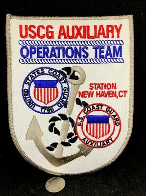 "USCG*United States Coast Guard Auxiliary*Embroidered Iron On Patch 5.7""x 4.2"""