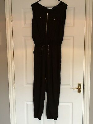 H&M Girls BNWOT sleeveless Jumpsuit Black 12/13 Years