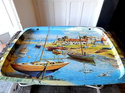 Vintage 1950s 1960s Folding Table Tray TV Dinners Bed Camping British Seaside