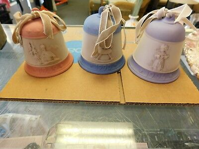 Set of 3 vintage christmas bell series Goebel 1989 1990 1994 collectible