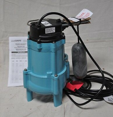 Little Giant 9SN-CIA-SFS 4/10 HP Automatic Submersible Sewage Pump 115 Voltage