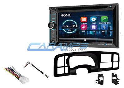 New Power Acoustik Double Din Stereo Aux Input Bluetooth Cd Player Install Kit