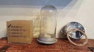 Vintage explosion proof style  light WITHOUT cage new never used