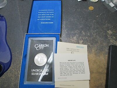 1883-CC Morgan Silver Dollar UNCirculated IN GSA HOLDER W BOX & PAPER
