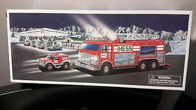 Hess 2005 Fire Emergency Truck With Rescue Vehicle  * New In Box