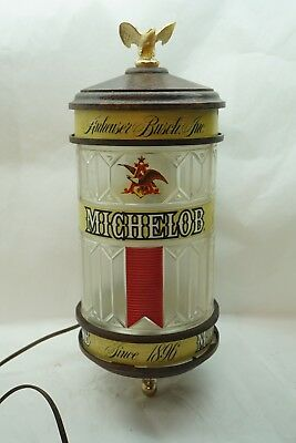 Vintage Beer Sign Michelob Lighted Wall Sconce Eagle Anheuser Busch Advertising