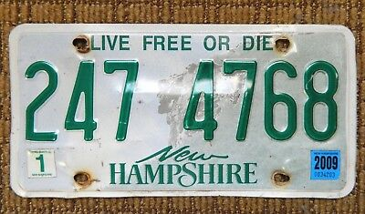 New Hampshire NH State License Plate Expired Craft Collector Live Free Or Die