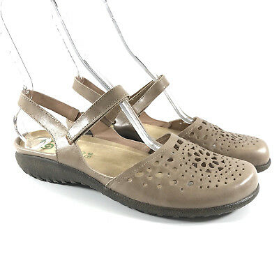 b96bbf09e271 Naot Arataki Size 42 Us 11 Sandals Flats Leather Tan Brown Mary Jane Sling  Back