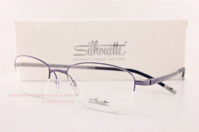 New Silhouette Eyeglass Frames Illusion Nylor 4453 6054 Violet Women Size 52
