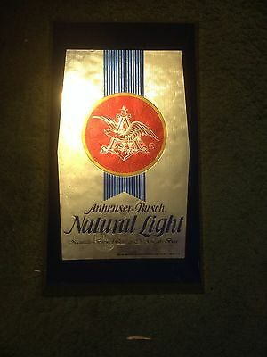 Plastic Anheuser Busch Wall Sign - Collectable 9x17 Inches