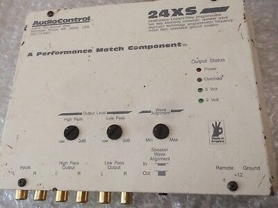 Audio Control 24XS Cross Over   X Over Old Skool FAULTY 2 Way Active  RARE