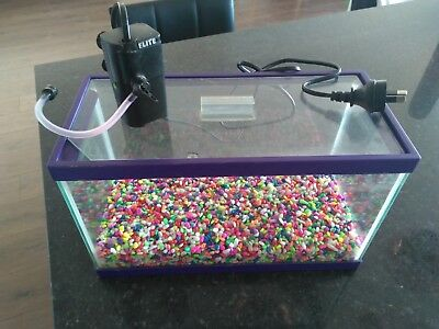 Fish Tank, Coloured stones and Electric Filter