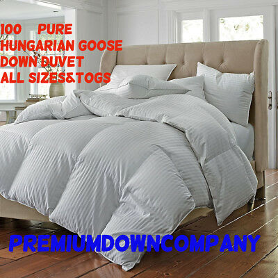 100% Pure Hungarian Goose Down Hotel Quality Duvet All Togs Available