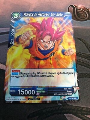 Preface of Recovery Son Goku - BCC Promo Dragon Ball Super Card Game IN HAND