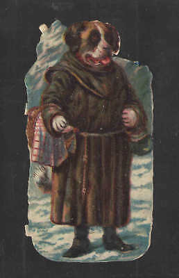 1880s VICTORIAN DRESSED DOG #5 of 6 LISTED DIE CUT CARD