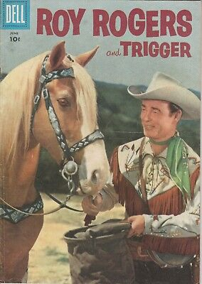1956 No. 102 Roy Rogers And Trigger Western & Cowboy Dell 10 Ct Comic Book
