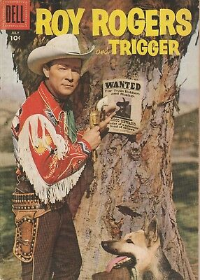 1956 No. 103 Roy Rogers And Trigger Western & Cowboy Dell 10 Ct Comic Book