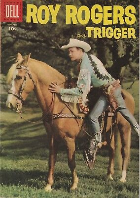 1956 No. 105 Roy Rogers And Trigger Western & Cowboy Dell 10 Ct Comic Book