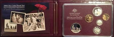 2005 6 Coin Proof Set..peace, Coming Home, Remembrance.