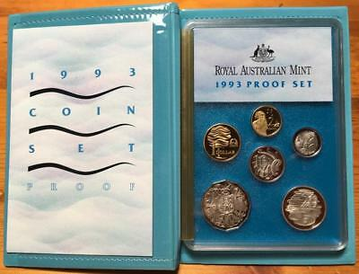 1993 6 COIN PROOF SET..LANDCARE and WATER RESOURCES.