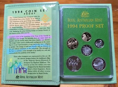 1994 6 Coin Proof Set..international Year Of The Family.