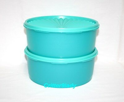 NEW Tupperware Retro Servalier Stacking Canisters in Teal