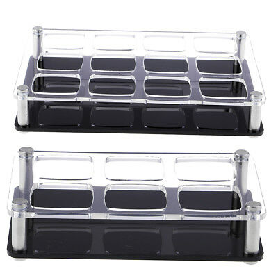 Acrylic Cup Display Rack for 12 / 6 Holes Wine Bottle Storage Cup Container