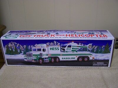 Vintage 1995 Hess Toy Truck and Helicopter in Original Box