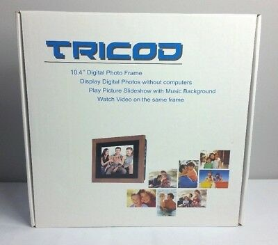 "New! Tricod 10.4"" DPF-LCD10K1  Digital Picture Video Frame"