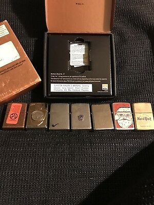 Vintage Lot Zippo Lighters FW Super Rare!!  Very Nice Storage Find Lot