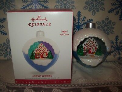 Hallmark A Sweet Surprise 2016 Magic Christmas Keepsake Ornaments Light Sound