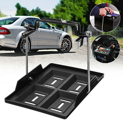 Universal Car Battery Tray Hold Down Clamp Boat Caravan Bracket Cycle 19 x 28cm