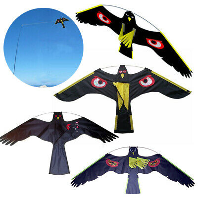 Black Flying Hawk Kite Bird Scarer For Garden Scarecrow Yard House Home Decor