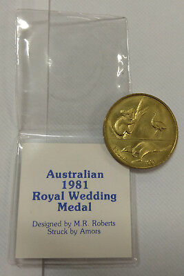 1981 Royal Wedding Medal With Certificate And Plastic Cover