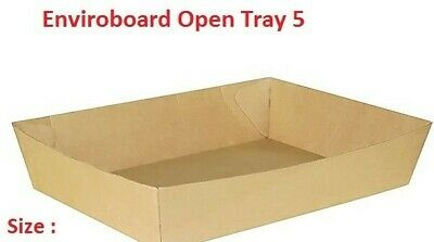 50 Pcs Cardboard Tray 5, 290 x 220 x 55mm, Enviroboard Disposable, Food Chips