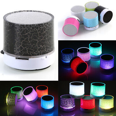 Rechargeable Luminous Light Super Bass Wireless Bluetooth Mini Speaker Portable